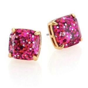 Kate spade pink glitter stud earring